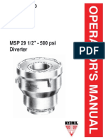 Hydril MSP 29-500 Manual