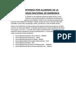 Beca Obtenida Por Alumnos de La Universidad Nacional de Barranca