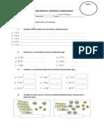 Evaluación 1 Números y Operaciones Matemática 4º