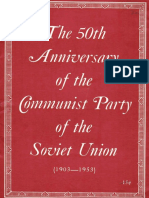 50th Anniversary of the Cpsu 1903 1953 Flph 1953
