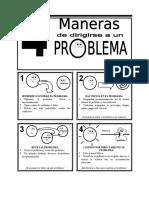 4 Maneras de Dirigirse a Un Problema (Diagrama)