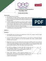 Examen Municipal de la olimpiada de Matematicas
