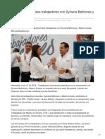 12/06/2018 Firman compromisos trabajadores con Sylvana Beltrones y Maloro Acosta