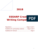 ESSARP Creative Writing -Regulations and Guidelines