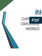 Clasificacion y Codificacion de Materiales