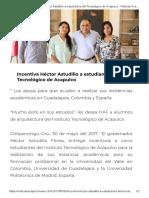 30-05-2017 Incentiva Héctor Astudillo a Estudiantes Del Tecnológico de Acapulco.