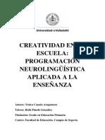 Creatividad en La Escuela Programación Neurolingüística Aplicada a La Enseñanza