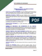 Glosario Ley General de Aduanas
