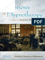 Hypnosis and Hypnotherapy Volume 1 - Deirdre Barrett