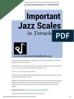 17 Básculas de Jazz Importantes en Tetrachords_ Aprende Los Estándares de Jazz