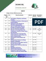 Indice Normas y Especificaciones