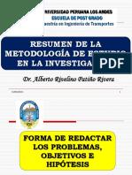01 Formulando Metodología de Estudio, Problema, Objetivos e Hipótesis - Paul