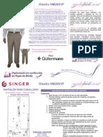 Instrucciones de Corte y Costura de Un Pantalon Fino HM2001P