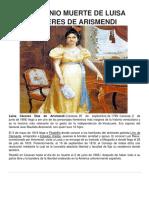 2 de Junio Muerte de Luisa Caceres de Arismendi