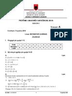 Pergjigjet e Matematikes