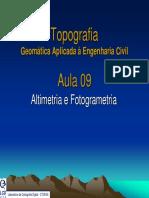 Aula09_Geomática 2011 Altimetria e Fotogrametria