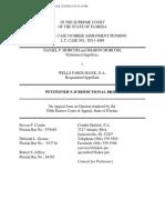 Jurisdictional Brief to the Florida Supreme Court
