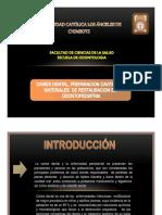 Caries Dental Preparación Cavitaria y Materiales de Restauración en Odontopediatría