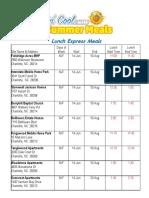 Z-2018 CMS Express Lunch Schedule