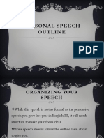 Personal Experience Speech PPT