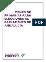 Reglamento de primarias para elecciones al Parlamento de Andalucía
