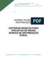 NTD-07-Critério Básico Para Projetos de Redes Aéreas de Distribuição Rural