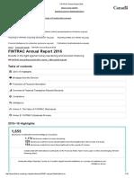 Lavado - FINTRAC Annual Report 2016