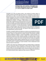 XVII Congreso Internacional de Filosofía Latinoamericana 2018