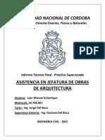 Asistente en Jefatura de Obras - Juan Echenique