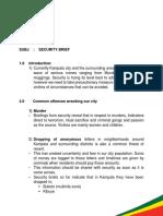 KCCA  Security Brief