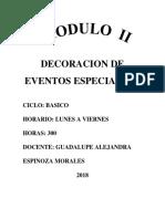 Modulo II Decoracion de Eventos Especiales i (1)