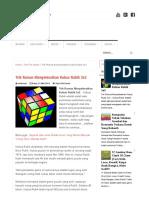 Trik Rumus Menyelesaikan Kubus Rubik 3x3 - Update Ceria