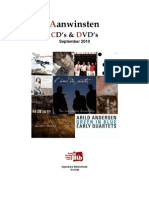 Aanwinsten Cd's en Dvd's September 2010