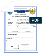 Causas Del Forado y Agrietamiento de Pistas en El Óvalo Grau de Trujillo