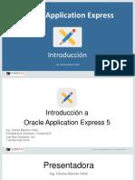 Intruduccion Oracle Application Express 5