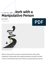 2017-12 - How to Work With a Manipulative Person