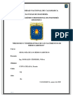 Presión y Temperatura en Yacimientos de Hidrocarburos