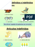 Articulos Definidos e Indefinidos