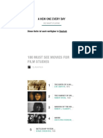 100 Must See Movies for Film Studies - Movies List on MUBI