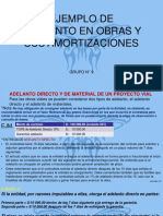 Ejemplo de Adelanto en Obras y Sus Amortizaciones
