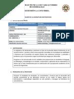 Silabo de La Asignatura Matematicas1 1