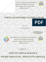 Stiinta si ingineria materialelor - Cristalografie Si Defecte