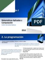 Programación I - Tema 2. La Programación