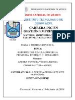 Reporte Del Simulacro en La Escuela Primaria Enrique C