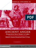 Ancient Anger Perspectives From Homer to Galen