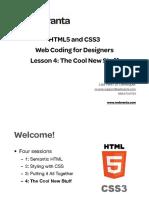 Html5 Css3 Lession 4 Slides
