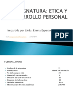 Etica y desarrollo personal