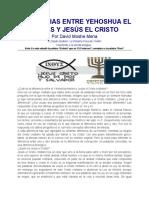 Diferencias Entre Yehoshua El Mesias y Jesus El Cristo