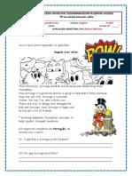 9º ano - prova de inglês