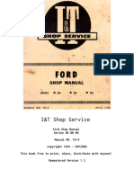 1953 I&T FO-4 Ford Tractor Service Manual